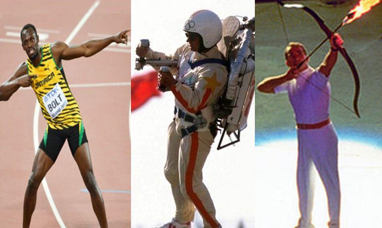 Imagens de cerimônias de abertura de olimpíadas