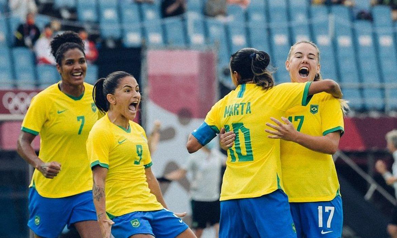 seleção feiminina brasileira goleia China na estreia em Tóquio - Olimpíada - em 21/07/2021
