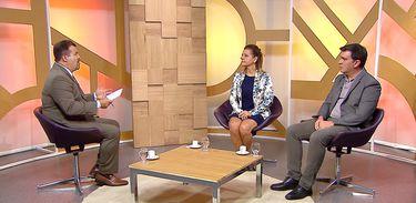 Estevão Damázio conversa com Ildecer Amorim e Everton Nunes da Silva no Diálogo Brasil