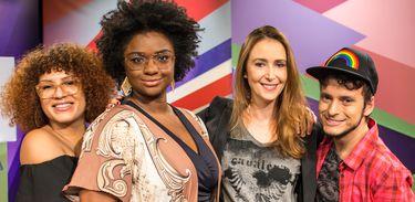 Mel Gonçalves, Ellen Oléria, Sabrina Greve e Fefito no Estação Plural