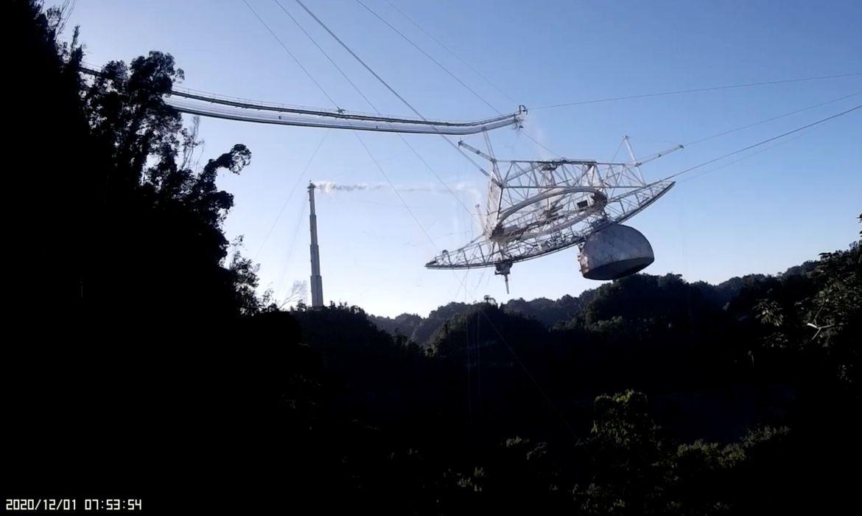 O telescópio do Observatório de Arecibo desmorona