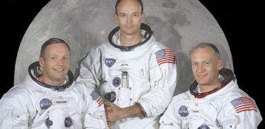 Neil Armstrong, Michael Collins e Buzz Aldrin - Tripulação da Apollo 11
