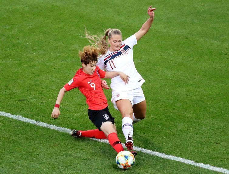 Coreia do Sul x Noruega na Copa do Mundo de Futebol Feminino - França 2019