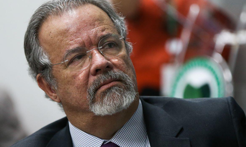 Brasília - O ministro da Defesa, Raul Jungmann, durante lançamento do Sistema Integrado de Monitoramento e Alerta Hidrometeorológico da Amazônia, o SipamHidro (Marcelo Camargo/Agência Brasil)