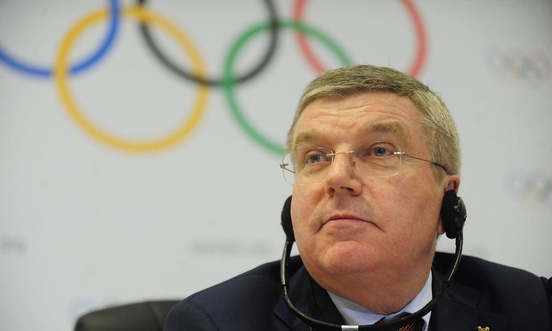 O presidente do Comitê Olímpico Internacional (COI), Thomas Bach, fala sobre a oitava visita oficial de inspeção para os Jogos Rio 2016 (Fernando Frazão/Agência Brasil)