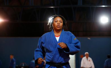 Aos 29 anos, a judoca congolesa Yolande prepara-se para os Jogos de Tóquio