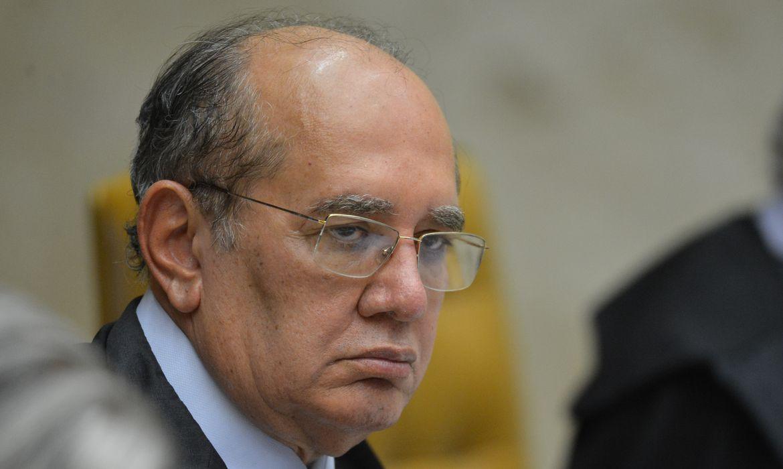 O ministro Gilmar Mendes, durante a segunda parte da sessão dehoje(23) parajulgamento sobre a validade da prisão emsegundainstância do Supremo Tribunal Federal (STF).