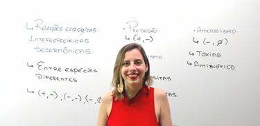 Professora Camila Cavaliere, professora de Biologia, fala sobre Relações Ecológicas Intraespecíficas Desarmônica no Cai no Vestibular da TV Brasil