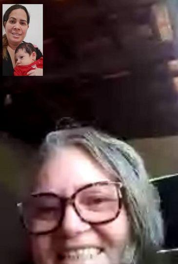 Graça Carvalho foi para o interior no RN e vê a neta de três meses pelo celular