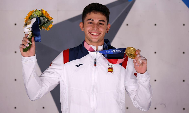 Espanhol Alberto Gines López, ouro, escalada, Olimpíada, Tóquio 2020