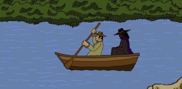 A lenda de um homem misterioso que aparece pedindo carona em um rio