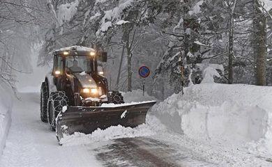 Neve na Europa - Agência EFE