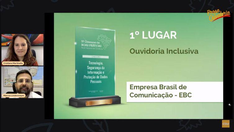 Empresa Brasil de Comunicação (EBC) ganhou o prêmio em primeiro lugar na categoria Ouvidoria Inclusiva.