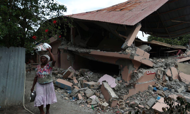Terremoto atingiu o norte do Haiti no final do sábado.