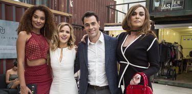 Natália, Ingrid, Otávio e Glória cuidam da marca de roupas