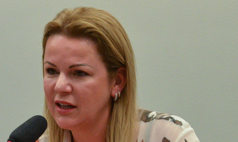 A viúva do ex-deputado José Janene, Stael Fernanda Janene, participa de audiência na CPI da Petrobras (José Cruz/Agência Brasil)