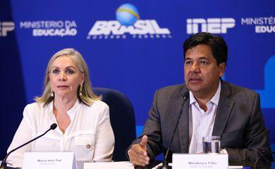 Brasília - A presidente do Inep, Maria Inês Fini, e o ministro da Educação, Mendonça Filho, fazem balanço do segundo dia de provas do Enem 2017 (Marcelo Camargo/Agência Brasil)