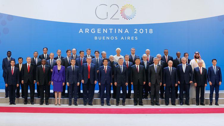 Buenos Aires/Argentina - Presidente da República, Michel Temer, posa para foto Oficial com Chefes de Estado e de Governo do G20.