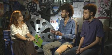 Tâmara Freire conversa com os diretores Marcos Carvalho e Eduardo Carvalho