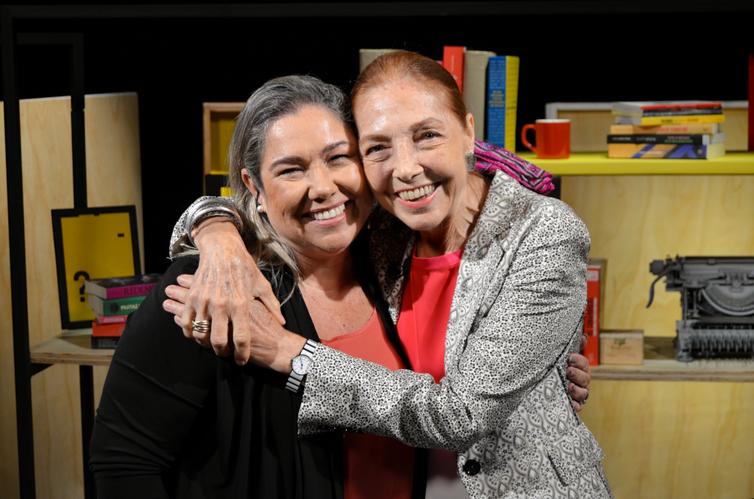 Katy Navarro e a escritora Marina Colasanti no Trilha de Letras