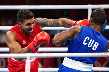 Abner Teixeira para nas semi de Tóquio 2020 mas garante o bronze nos 91kg - boxe - pugilista