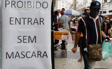 Primeiro dia de flexibilização do uso de máscaras ao ar livre no Estado do Rio de Janeiro.