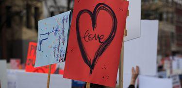 Cartazes em protesto