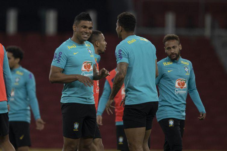 seleção brasileira, treino, casemiro, futebol