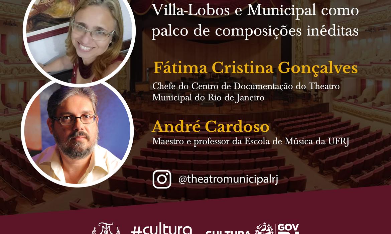 Theatro Municipal Palco Livre apresenta Villa-Lobos e Municipal como palco de composições inéditas