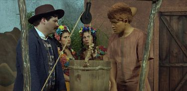Boneco de Barro conversa com Mestre Fiel, Criada e Serva