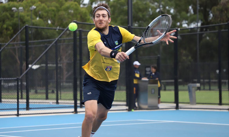 Demoliner - tenista - Treino do time Brasil BRB para o confronto Austrália x Brasil. Fotos no Memorial Drive Tennis Club, em Adelaide - março de 2020