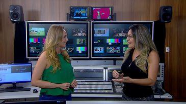 Karina Cardoso e Priscila Rangel apresentam o EBC no ar