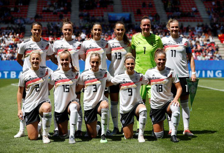 Seleção da Alemanha na Copa do Mundo de Futebol Feminino - França 2019.