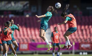 seleção brasileira feminina de futebol - treino antes do amistoso contra a Austrália - 21/10/2021
