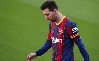 Lionel Messi durante partida do Barcelona contra o Osasuna