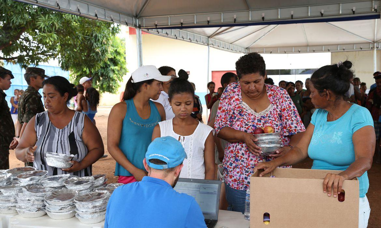 Boa Vista - Acampamento de refugiados venezuelanos montado pelo Exército Brasileiro e a Agência das Nações Unidas para Refugiados (Antonio Cruz/Agência Brasil)