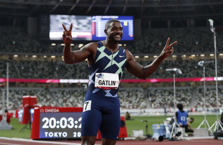 Tokyo 2020 Olympic Games Test Event - Athletics - Justin Gatlin - atletismo - evento-teste - Estádio Olímpico de Tóquio - em 09/05/2021
