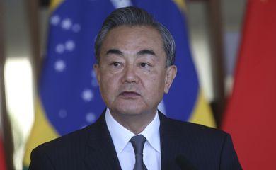 Entrevista coletiva dos ministros das Relações Exteriores do Brasil, Ernesto Araújo, e dos Negócios Estrangeiros da China, Wang Yi.