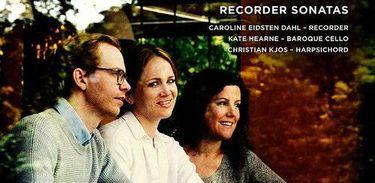 "Capa do CD ""Telemann Recorder Sonatas"", de Caroline Eidsten Dahl"