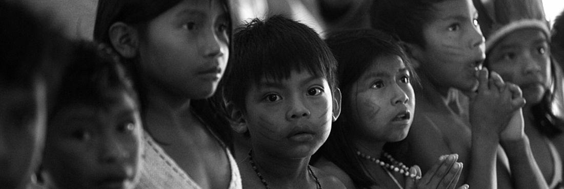 Raposa Serra do Sol (RR) - Cerimônia de boas vindas da comunidade indígena Maturuca