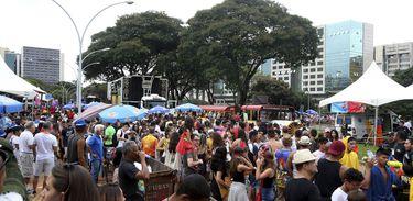 Bloco de carnaval de rua, Galinho de Brasília embala 10 mil foliões pelas ruas da capital do país