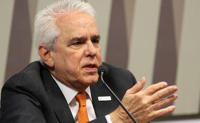 O presidente da Petrobras, Roberto Castello Branco, participa da  audiência pública interativa, na Comissão de Infraestrutura (CI) do Senado Federal