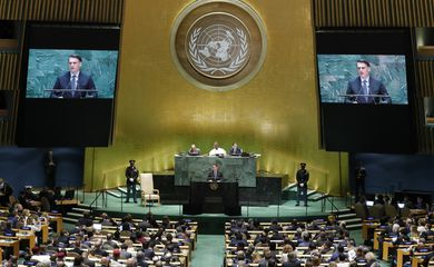 Presidente Jair Bolsonaro discursa na Assembleia Geral da ONU