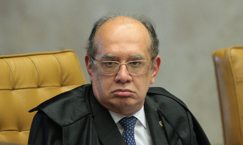 Brasília - Ministro Gilmar Mendes durante sessão do Supremo Tribunal Federal (STF) para julgamento sobre imunidade parlamentar de deputados estaduais (Rosinei Coutinho/SCO/STF)