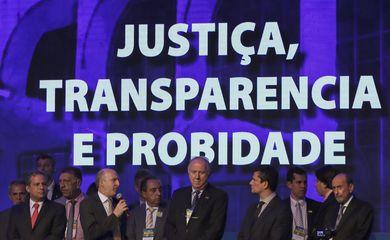 O ministro da Justiça e Segurança Pública, Sergio Moro, participa do painel Justiça, Transparência e Probidade, na 22ª Marcha a Brasília em Defesa dos Municípios.