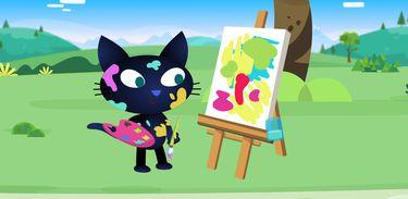 Matilda descobre um jeito mais solto de pintar