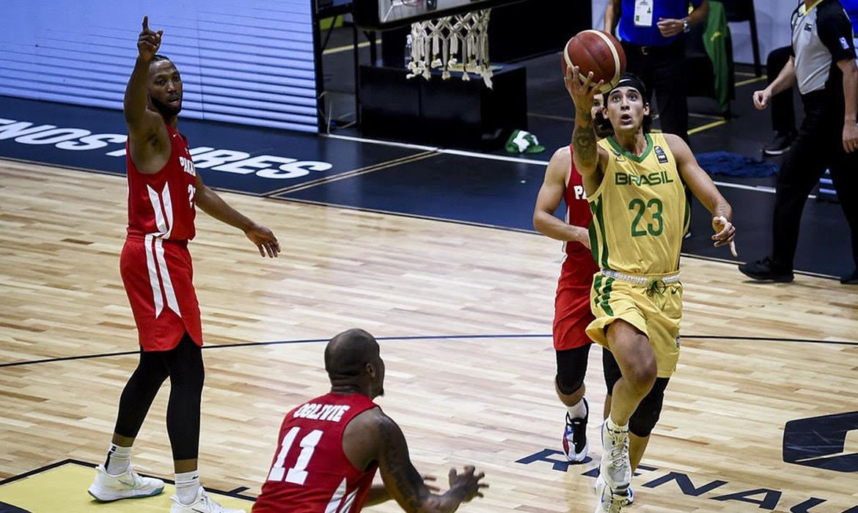 Caio Pacheco foi um dos destaques da seleção de basquete na fase de eliminatórias da AmeriCup.