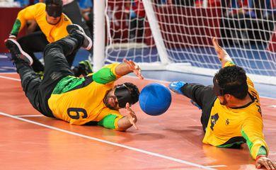 31.08.21 - Equipe de Goalball, BRA x TUR durante partida nos Jogos Paralímpicos de Tóquio - Brasil - masculino _ Paralimpíada