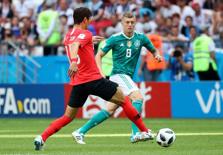 Copa 2018, Coréia e Alemanha, Início de jogo  REUTERS/Pilar Olivares