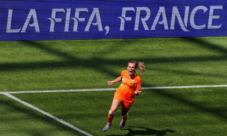 Jill Roord, jogadora da seleção da Holanda na Copa do Mundo de Futebol Feminino - França 2019.